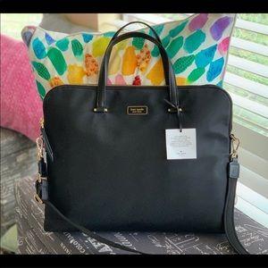 NWT♠️Kate Spade Dawn Black Nylon Laptop Bag